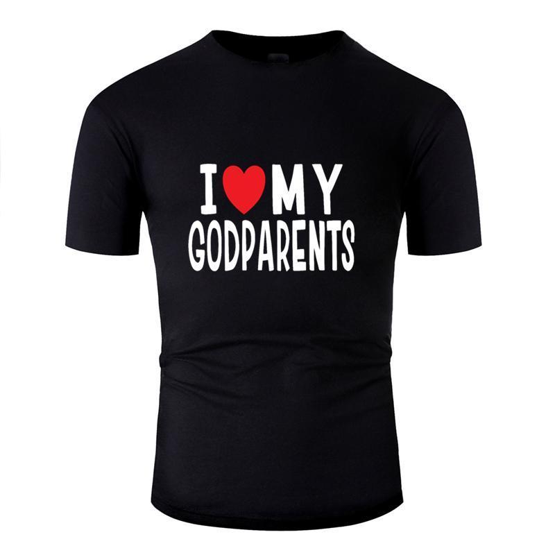 Amor del corazón Regalo estupendo Amo mis padrinos de la familia de camiseta Hombre 2019 Familia Camiseta hilarante de Hiphop