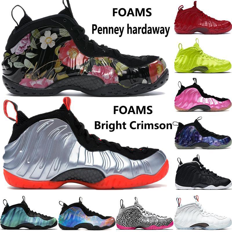 Hardaway erkek basketbol ayakkabıları köpükler 2020 yeni Penny Parlak Crimson volt Fil bir çiçek NRG Galaxy Yanardöner erkek Sneakers Baskı pro