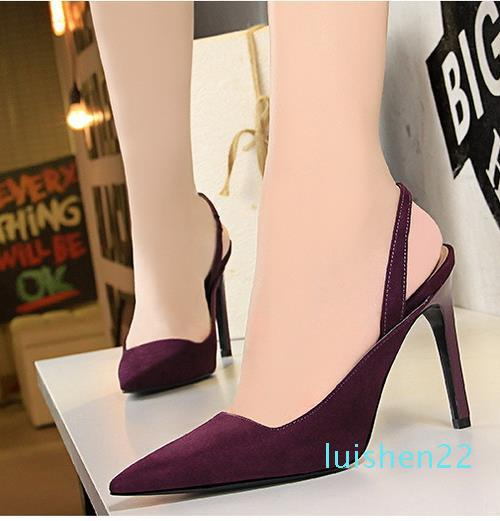 Elegante spitze Zehe Schlinge zurück spitzen Pumps Brauthochzeitsschuhe multi Farben-Absatzschuhe der reizvollen Frauen Designer-Schuhe l22