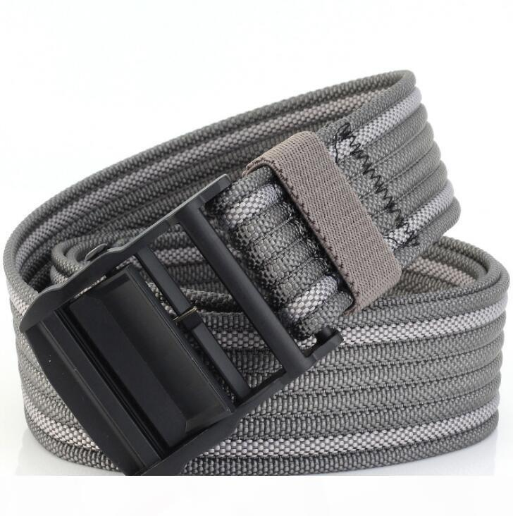 OW alta qualità cintura unisex cinghia di stile industriale Tela Correggere Cinture Versione lettere gialle Cinture di marea di alimentazione