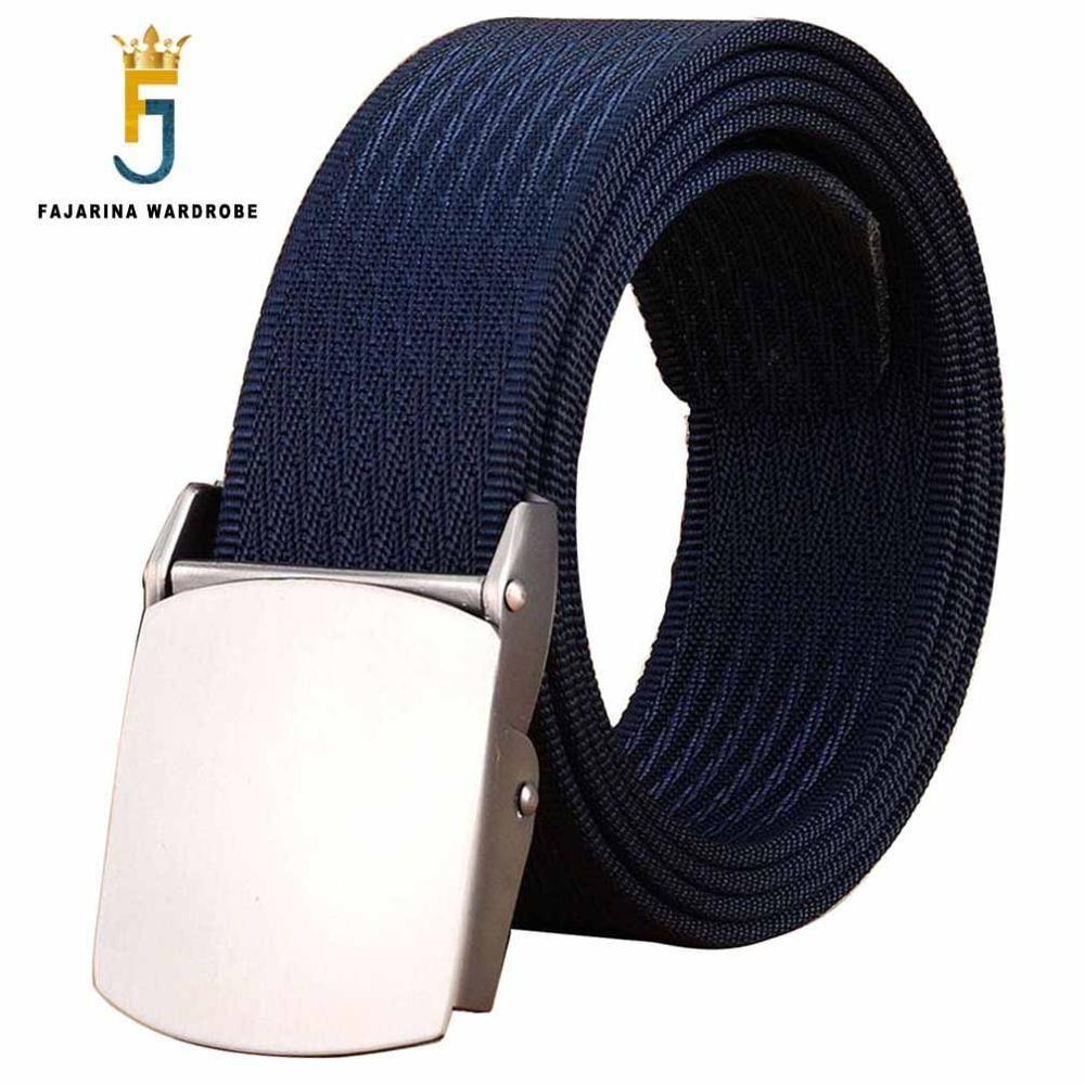 Cinturones FAJARINA manera masculino táctico de alta calidad Negro Cinturón de nylon informal correas de rayas lienzo para Hombres Mujeres Jeans CBFJ0001 CX200716