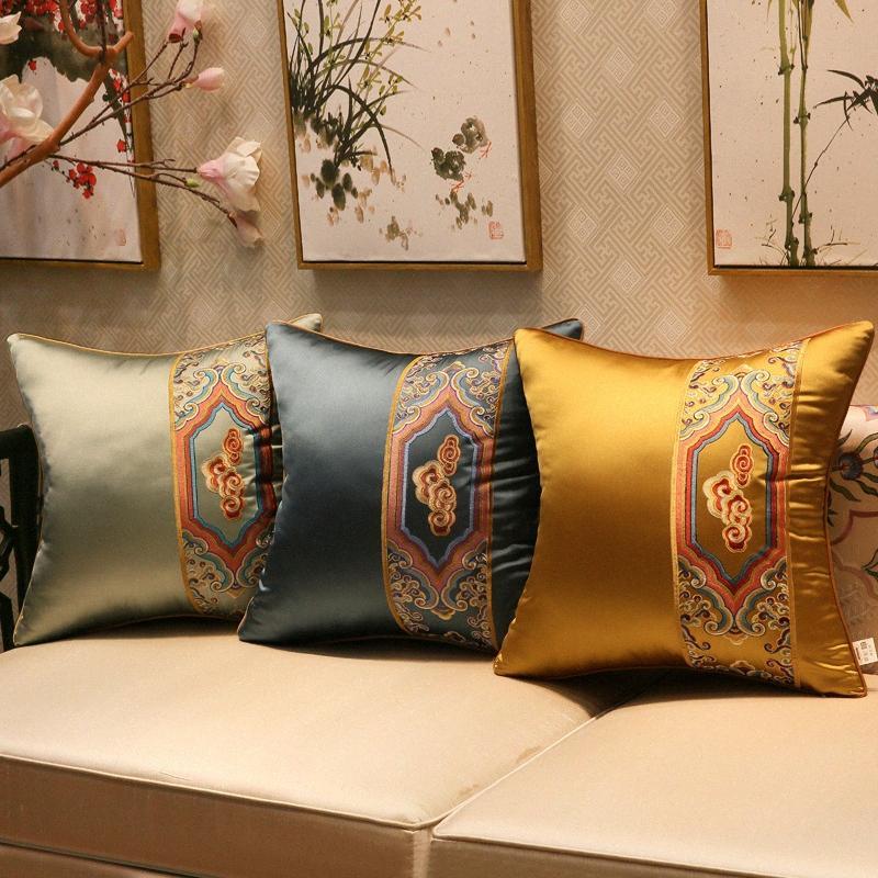 Classical auspicioso nuvens capa de almofada bordada chinesa Syle High Grade Lance Fronhas Início Sofá Decoração J31Y #