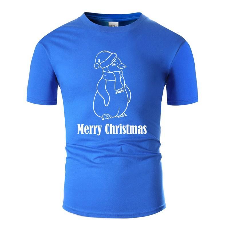 Трикотажное С Рождеством - Penguin Футболка Человек Известный Army Green Leisure Boy Девочка Tshirts Плюс Размер S-5xl Tee Shirt