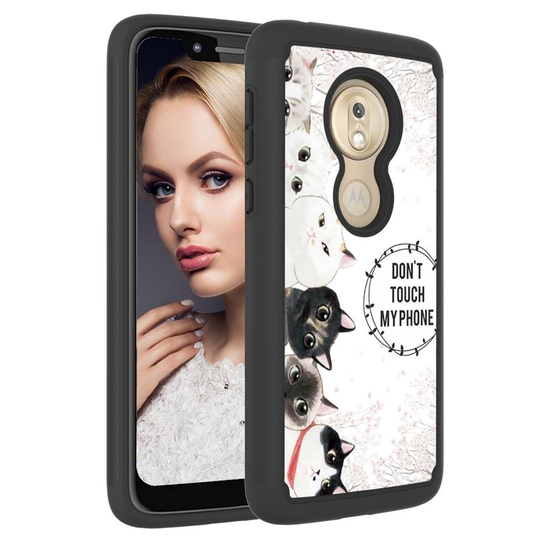 Dessin de couleur Motif PC + TPU Housse de protection pour Motorola Moto G7 Jouer version US