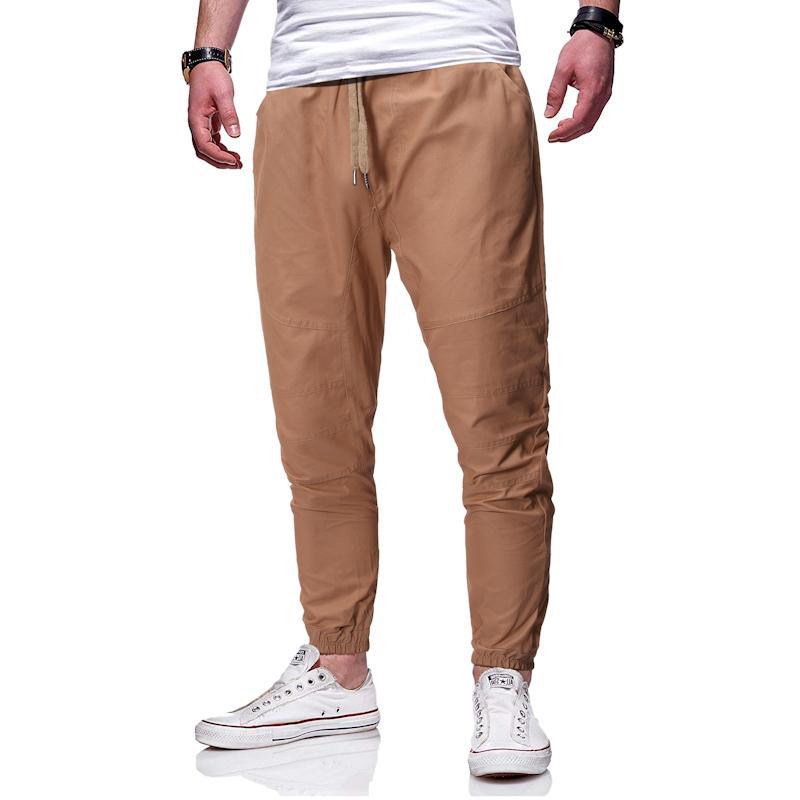 PADEGAO Marka 2020 Yeni Erkek Giyim Basit, İnce, Boş Moda Rahat Moda Saf Pantolon Ayak bileği-Uzunluk Pantolon