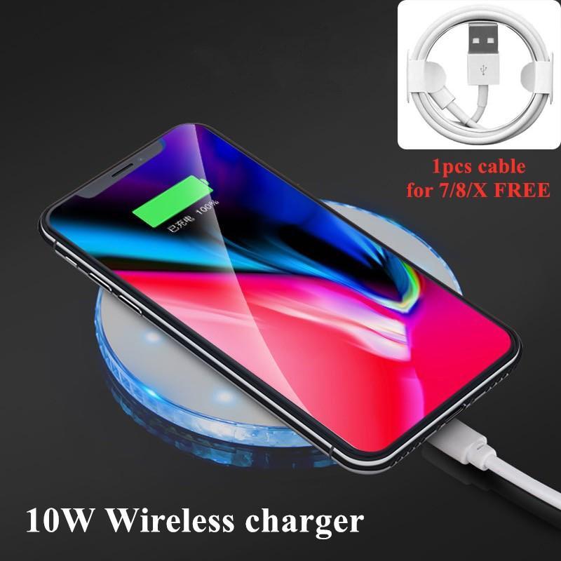 iPhone Carregador Para Universal 10W Qi sem fio 11 Pro Max X de alta qualidade de carregamento sem fio Pad Para Samsung Huawei Xiaomi