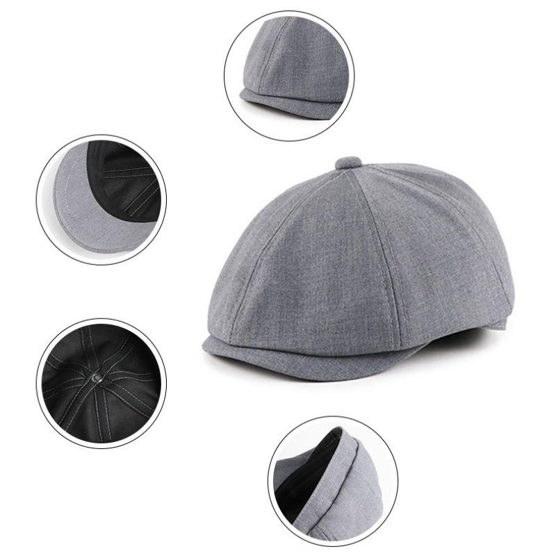 Aolikes Джентльмены ретро Cap Повседневный Flat Hat Женский восьмиугольная Cap Vintage Painter Art Осень Зима Мужчины Женщины Hat Берет
