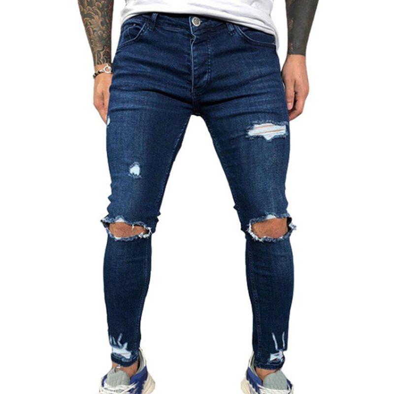 2021 Jeans Mens Men Hombres Verano Agujero Azul Lápiz Para Jeans Vicabo Pantalones Negro Sexy Hombres Moda Ropa De Hombre Ropa Streetwear #w Hipoi