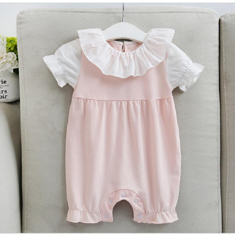 Yenidoğan Bebek Romper Kız Tulum Prenses Bebek Kız Giyim Vaftiz Yaz Kız Romper AngelWing Bebek Bebek Giyim Kostüm