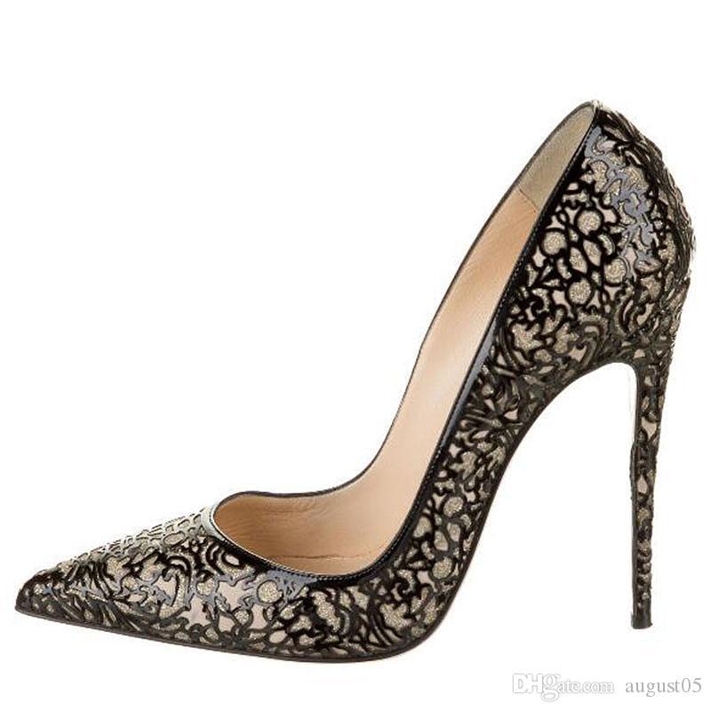 2020 насоса лакированной кожи свадебные туфли заостренным носком тонкие каблуки сексуальная женщина красный черный высокие каблуки Фиолетовый Леопардовый Змеиный овчины 2O