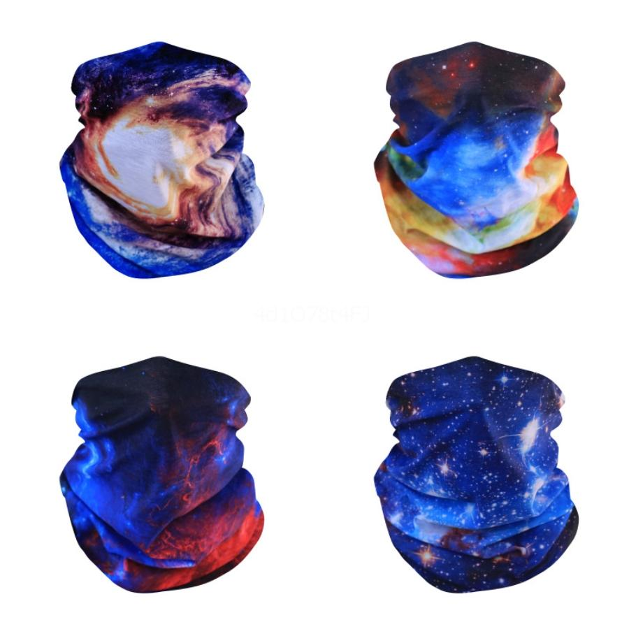 2020 Explosion de couleur unie cou écharpe multi-usage extérieur équitation magique foulard hommes d'été mince tête écharpe en gros 2pcs Pack # 598