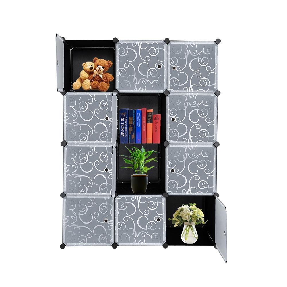 Бесплатная комбинация простые складные DIY хранилища Magic Film Idey, собранный пластиковый шкаф, шкаф для домашнего хранения
