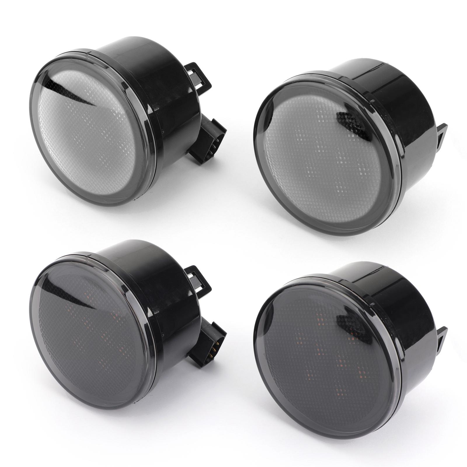 Areyourshop Car 2PCS Front Fender Lens LED Turn Signal Light Assembly Fit For Wrangler 07-15 Car Auto Accessories Parts