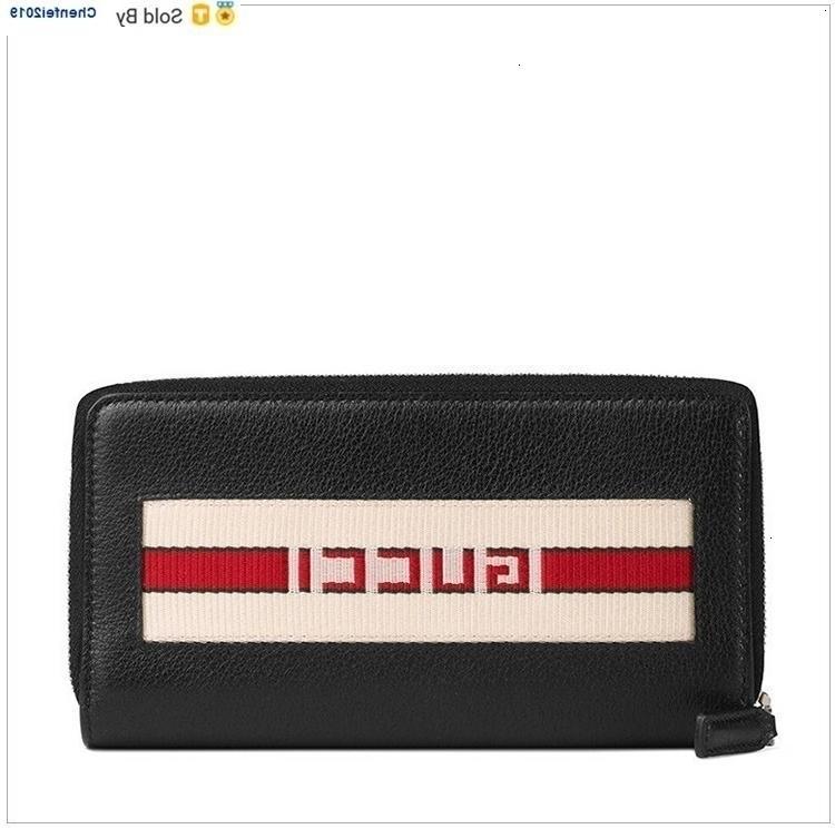 chenfei2019 UNIT Leder Printing Lange Zipper Wallet Schwarz Totes Handtaschen Schulter-Rucksäcke Wallets Purse s