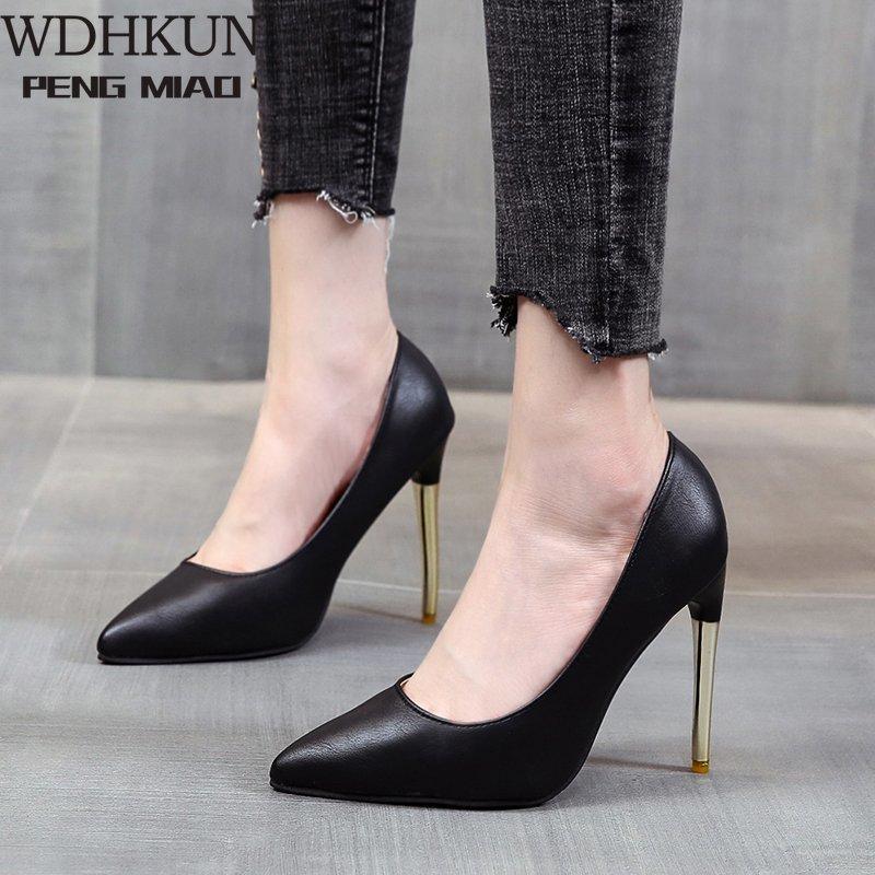 Weiß Rundkopf High Heels dünne Fersen elegante Einzel Schuhe Sexy Pumps Berufsdamenschuhe Große Arbeit 41,42,43