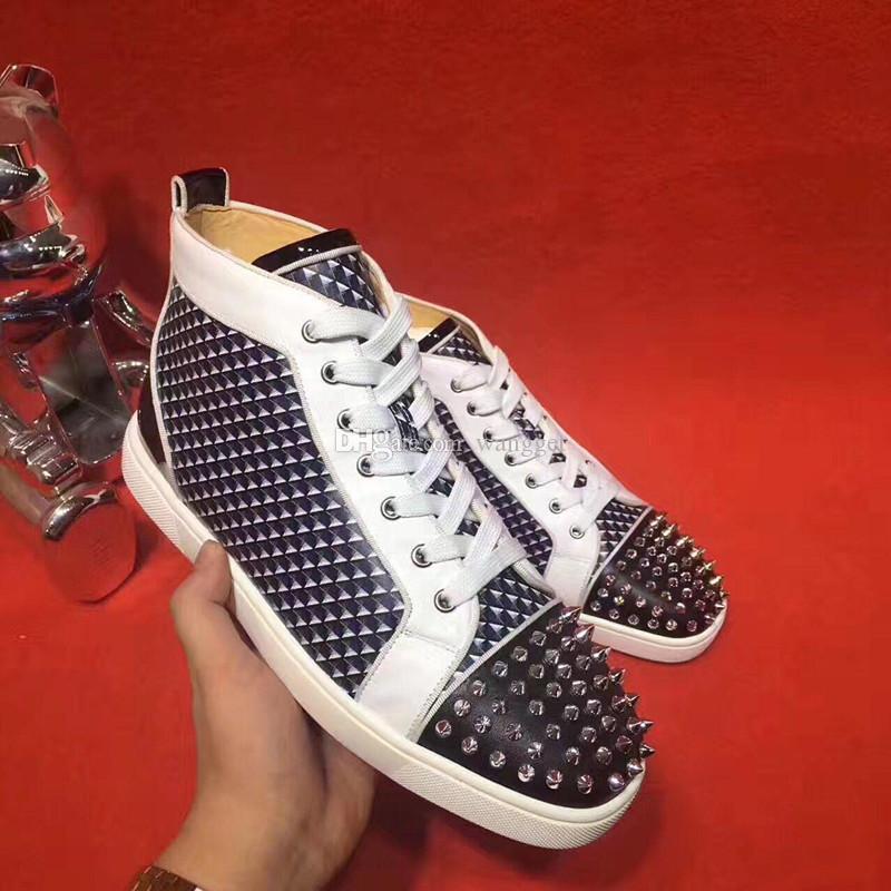 Griglia di prezzi di fabbrica di alta qualità di vernice in pelle rossa delle scarpe da tennis pattini inferiori Comfort alte donne casuali, Men Walking Fashion Flats
