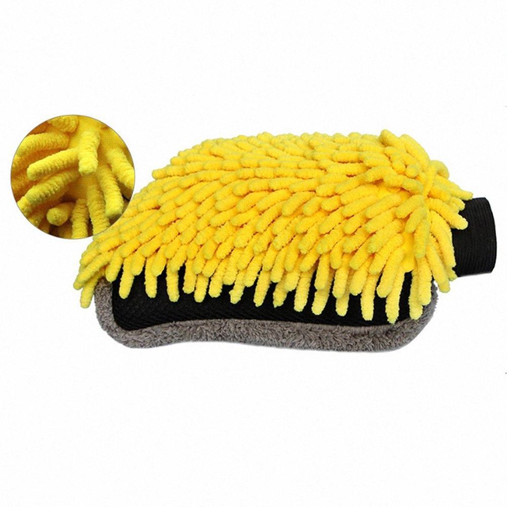 Многофункциональный автомобиль щетка для очистки Детализация микрофибры для мойки автомобилей перчатки Очистка инструмента Сушка для полотенца Strong Толстые волокна колеса кисти JqtU #