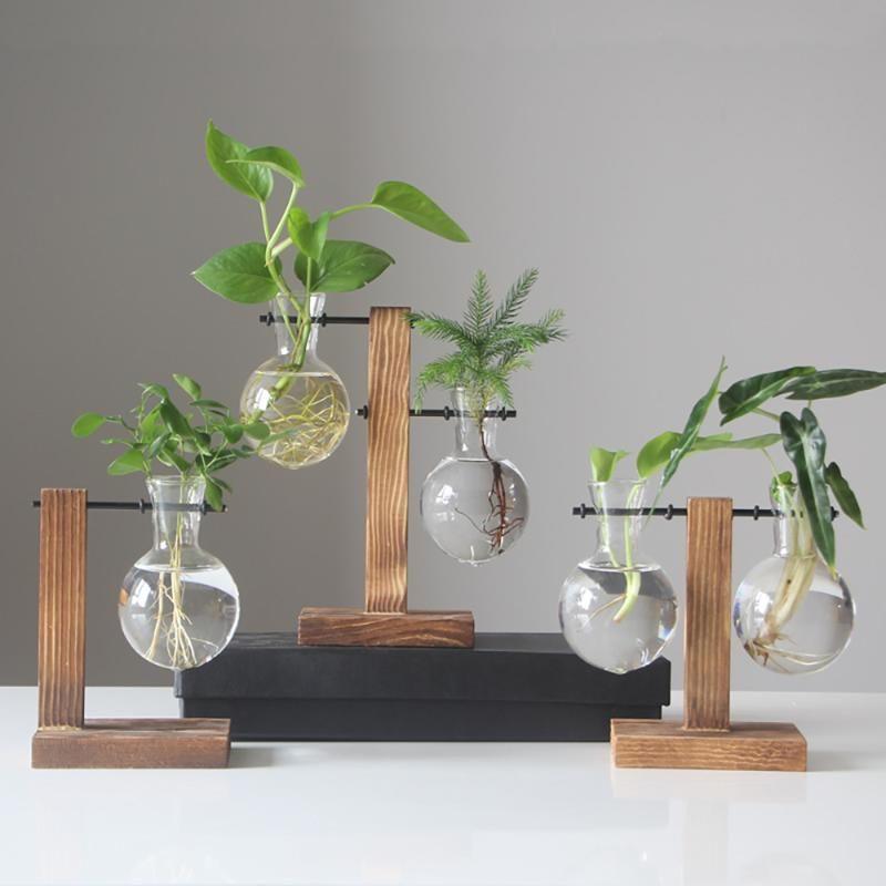 Hydroponic Vase Vintage Desktop Plant Terrarium Planter Bulb Glass Vase Water Planting Propagation Stations Home Decoration