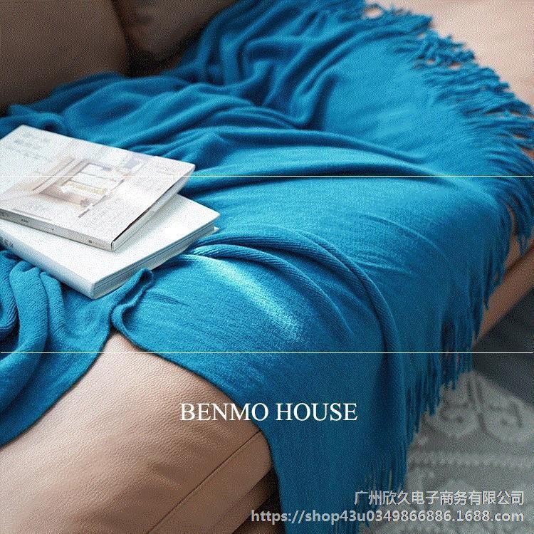 Coperta di lana lavorato a maglia sciarpa di aria condizionata Bed Tail Coperta americano Nordic sofà della coperta del letto americano Office Add Box L