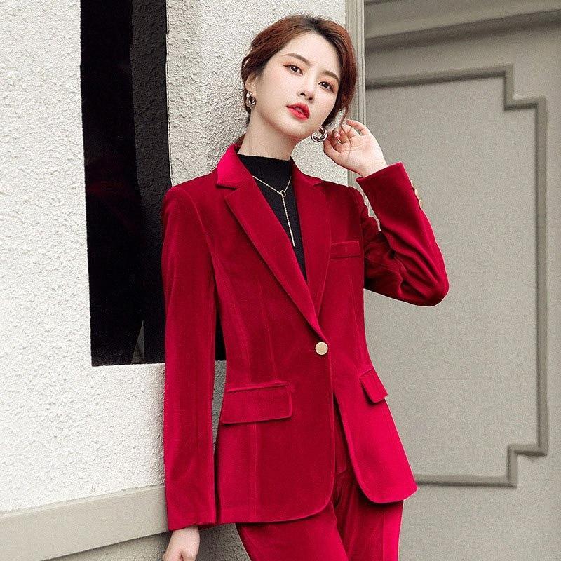 1pcs Frauen plus Größe Blazer Mäntel 2020 Autumn Velvet Splicing Lange Ärmel Kleine Anzüge Jacken Damen dünne Blazer Anzüge AMGE #