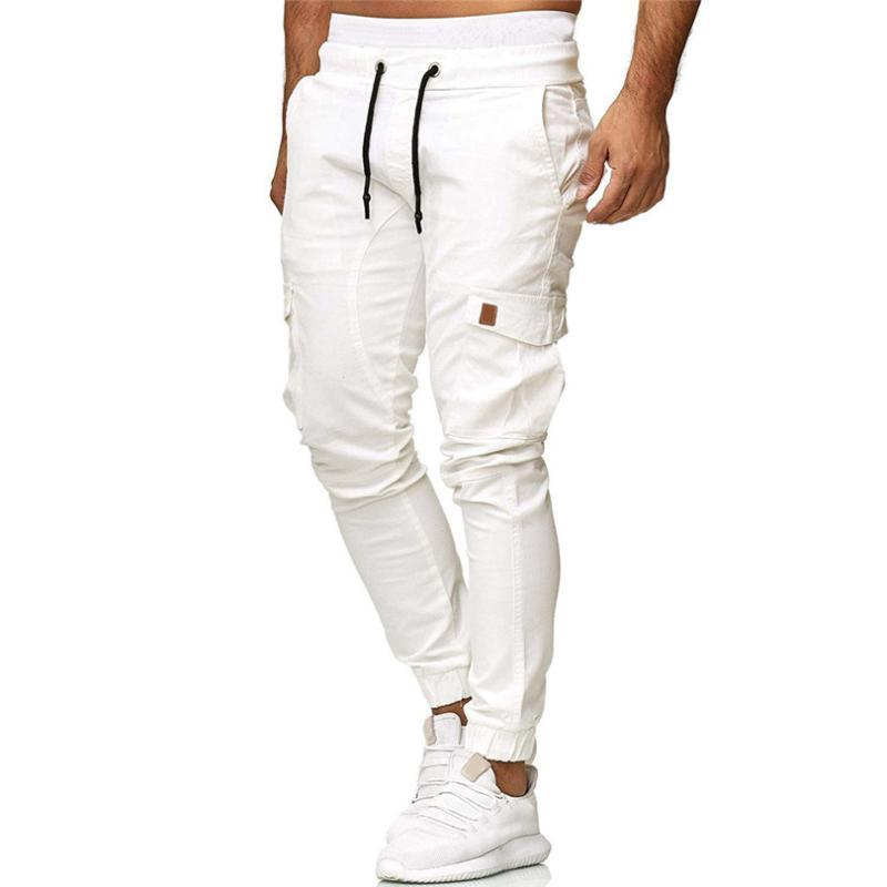 Pantalons Hommes Hommes 2021 Souprouver Suisse Fashion Casual Elastic Jogging Sport Solide Pantalons Straight Pantalons Long # Jun07