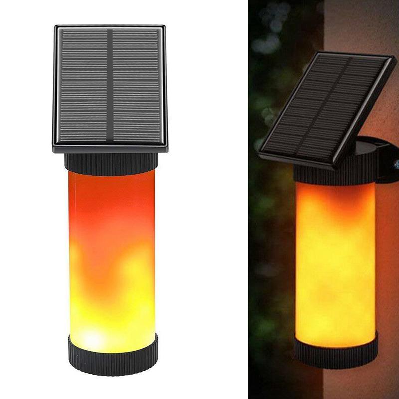 정원 장식 불꽃과 태양 에너지를 깜박임 102 LED 태양 광, LED 벽 빛, 방수 야외 조명 10216