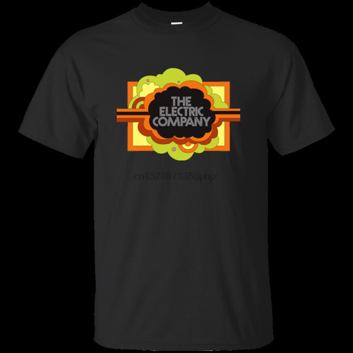 Elektrik Şirketi Retro Çocuk Televizyon Pbs 70T-Shirt Serin Unisex Pride Tişörtlü Erkekler Rasgele Tshirt Ücretsiz Moda