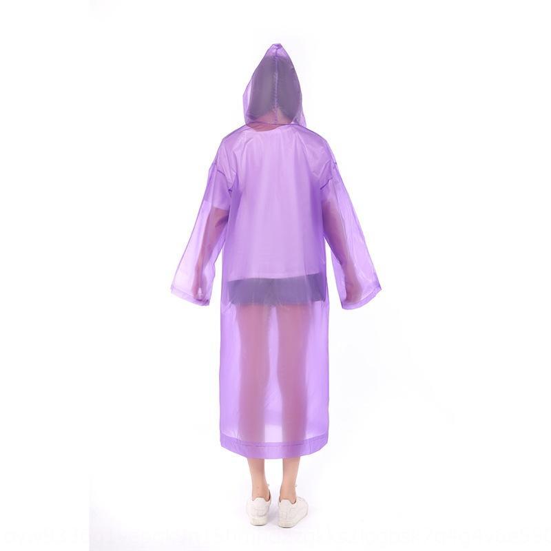 şeffaf outdoor yürüyüş v9IXx yağmurluk seyahat kalınlaşmış ve yetişkin olmayan tek kullanımlık P panço EVA Cloak pelerin yağmurluk seyahat yürüyüş tran wo