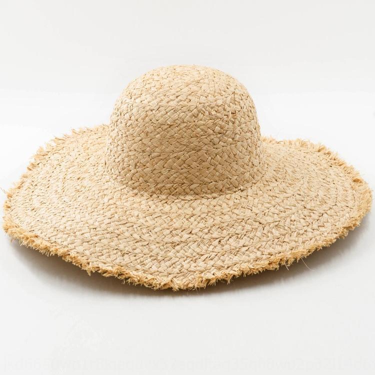 Весна-лето новой рафии карниз карниз крышка толстая ручная Соломенная шляпа большой полями «мори да яньте соломенную шляпу шапки nNXYw