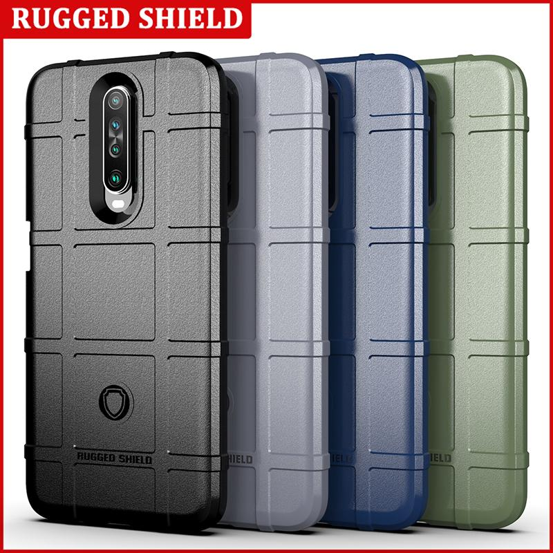 Soft Silicone Rugged Shield Case Armor Hybrid Matte Cover Anti Knock Shockproof Cover for Redmi POCO X2