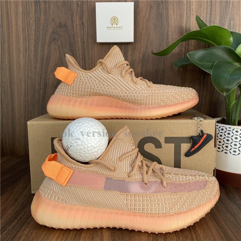 2021 para hombre de los zapatos corrientes de las zapatillas de deporte Mujeres Deportes Kanye West Triple Negro Tierra Yeezreel Cinder Israfil Eliadá Yecheil arcilla Oreo Doble Box V2