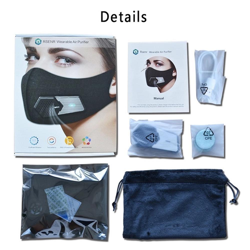 جديد أقنعة مروحة كهربائية جديدة PM2.5 الغبار قناع مكافحة التلوث حبوب اللقاح الحساسية تنفس الوجه واقية غطاء 4 طبقات حماية