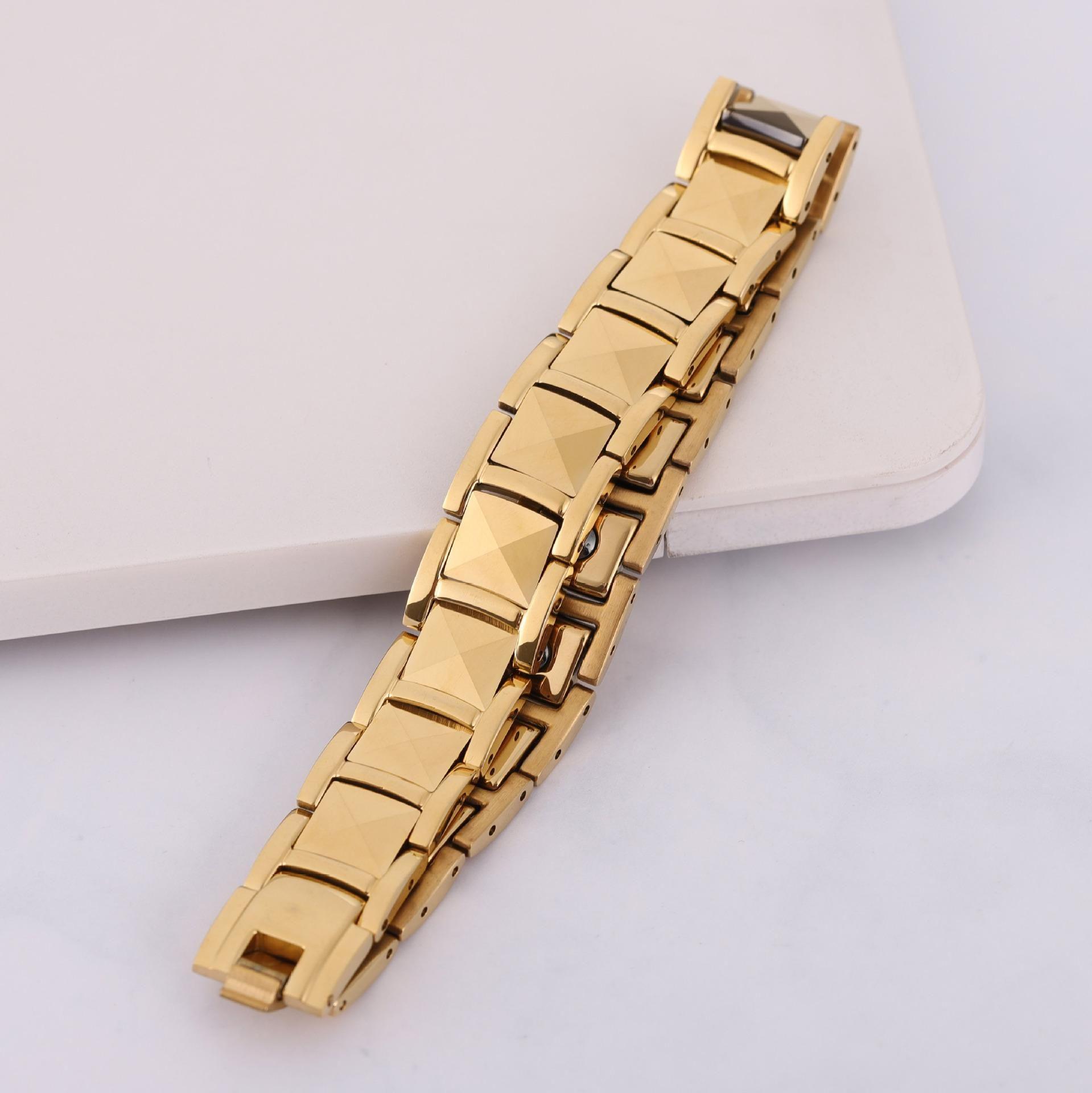 de aço inoxidável dos homens de qualidade H44 Brand new Top pulseiras de aço inoxidável pulseiras magnéticas de aço inoxidável CZ cerâmica pulseiras GZMW07