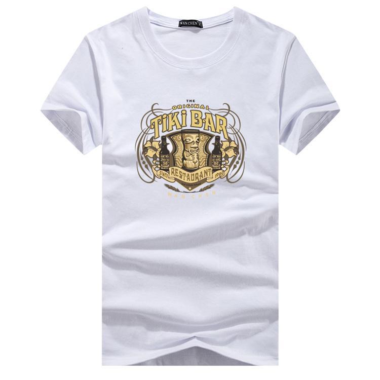Verano fresco camiseta de los hombres de moda de los cráneos Impreso Manga corta tes de las tapas Tee Shirts Ropa