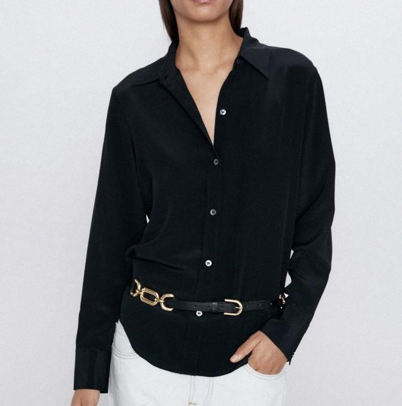 Women Blouse Shirt Spring 2020 New Fashion Long Sleeve Tops Modern Lady Black and White Shirts LfgL#