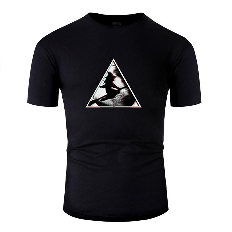 Erstellen Sie entwirft T-Shirt aus 100% Baumwolle Super-Jungen-Mädchen Satanic Witch T-Shirts Grau Kurzarm-T-Shirt T-Tops