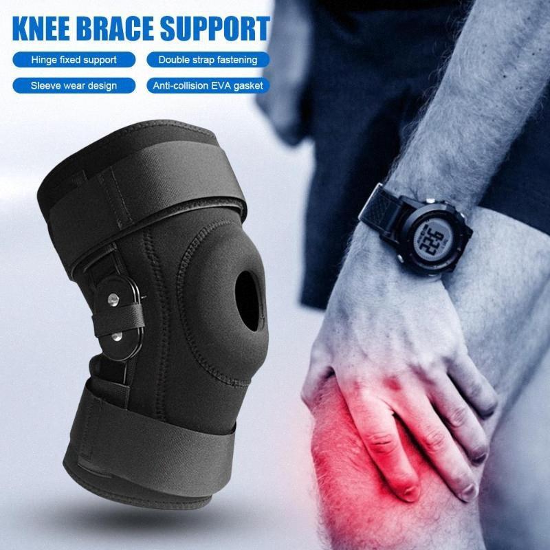 Brace rodilla articulada de soporte laterales Patella Estabilizadores con deportes de la correa de la rodilla almohadillas protectoras para la Protección y el alivio del dolor L7Dt #