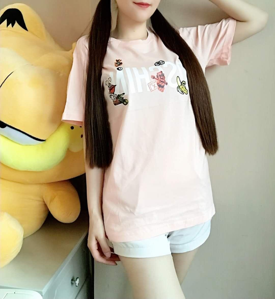 Le donne magliette GG Tees colorati Patterns lettere sleeve stampate breve stile delle parti superiori della ragazza Nnicorn T Shirt