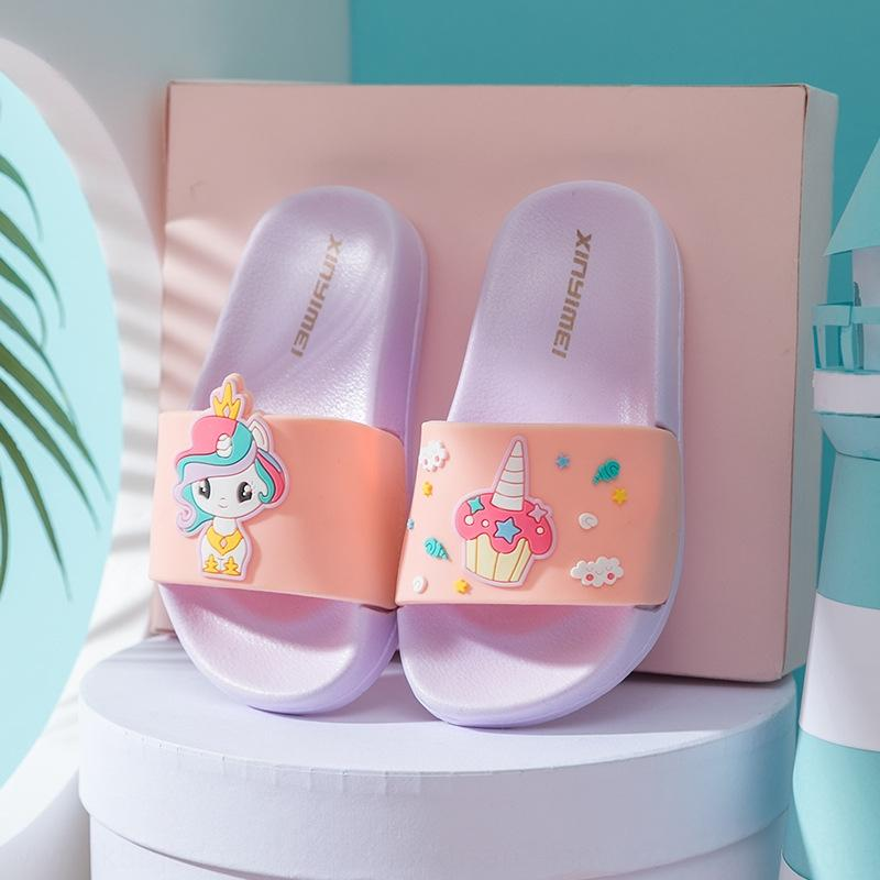 interior para niños de dibujos animados lindo de arrastre antideslizante Xiaoma cosmos princesa niñas mUUaB Xiaoma cosmos princesa niñas zapatillas de dibujos animados lindo de interior