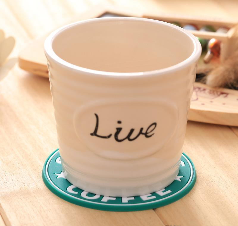 For 2017 New Silicone Coasters Cup Thermo Cushion Holder Starbucks Sea-maid Coffee Coasters Cup Mat hotstore2010 rtOrv