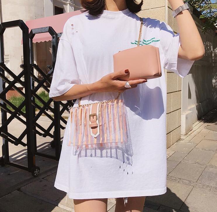 Transparent Femme Sac 2020 nouveau sac à main de qualité Pvc Transparent Stripe Femmes Sac doux Jelly Sac à bandoulière Messenger
