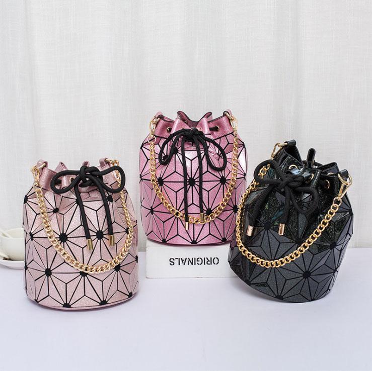 moda sacchetto di colore luminoso 2020 nuova borsa laser versatile borsa del plaid la catena della spalla sacchetti di Crossbody Bag Laser Diamante