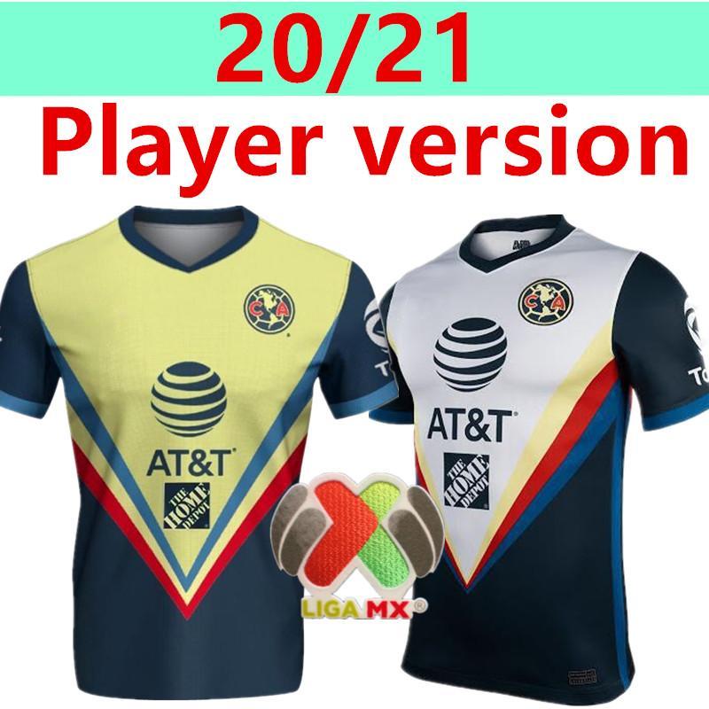 Игрок версия G. Dos Santos 20 21 дома Америка Желтый футбол Джерси R.SAMBUEZA P.AGUILAR 2020 2021 прочь Мексика клуб Футбол рубашка