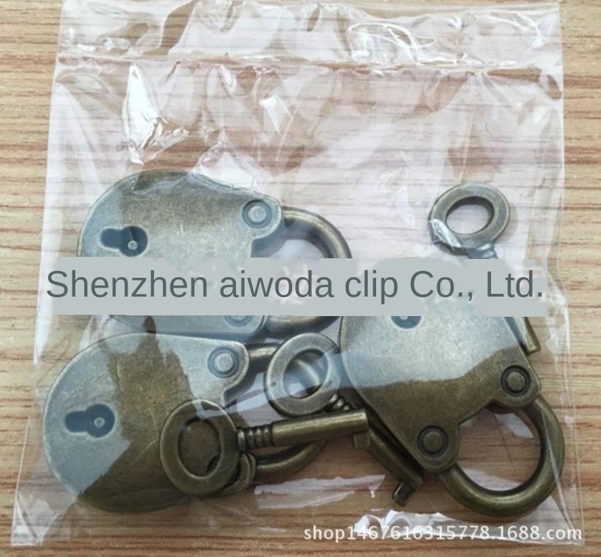 accessori in lega di alta qualità Orso accessori pad di fascia alta borsa antica pulsante di blocco orso lucchetto