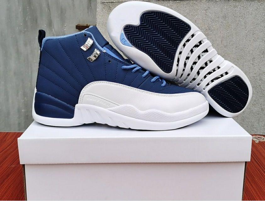 12 İndigo Taş Mavi Legend Mavi erkekler basketbol ayakkabıları 130690-404 Jumpman 12s kaliteli Erkekler spor tasarımcı ayakkabı