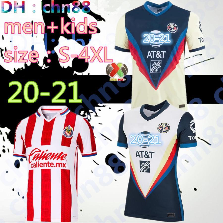 size:S-4XL 2020 2021 LIGA MX Club America Soccer Jersey Guadalajara Chivas Men Kids 20 21 mexico GIOVANI R.SAMBUEZA O.PERALTA Football Shirt