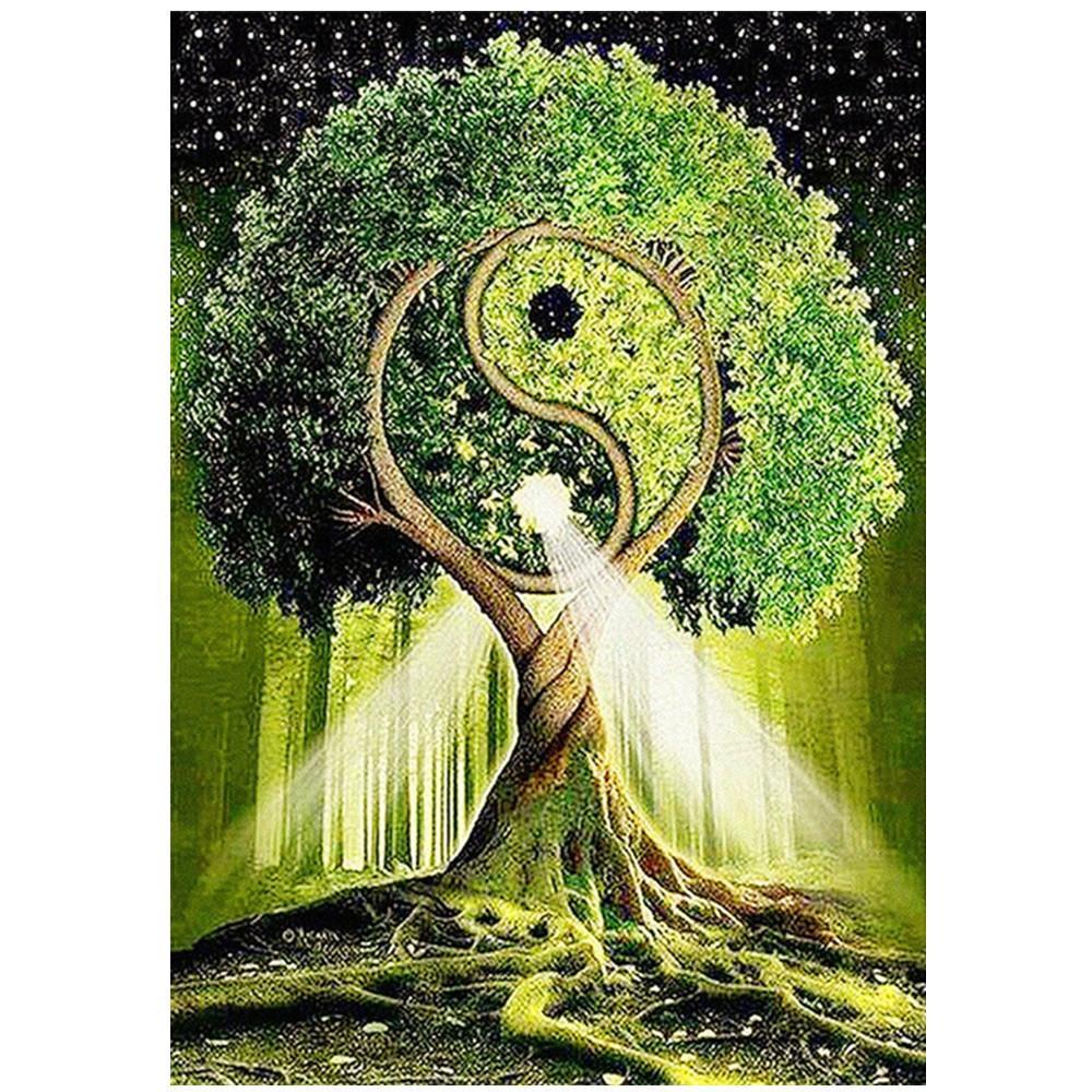 5D diamante pittura piena di diamanti nuovo tai chi albero decorazione ricamo a mosaico decorazione della casa