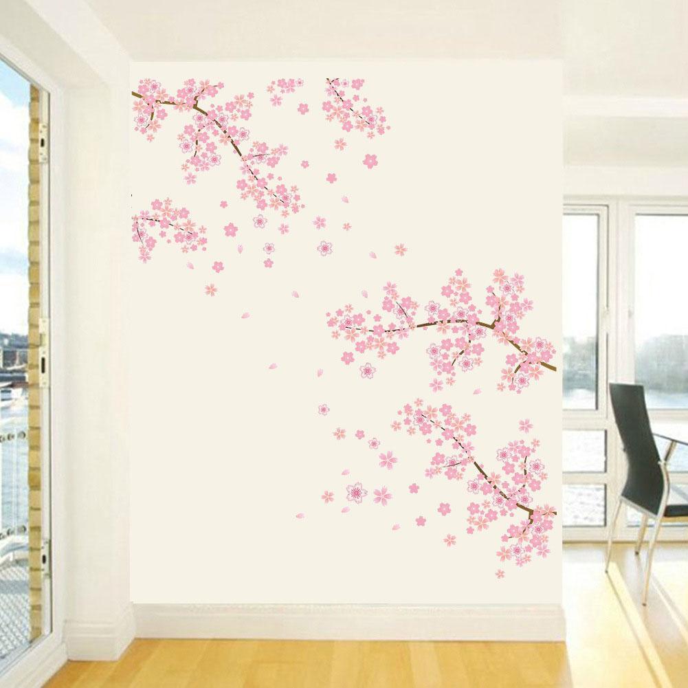 Sanat Salon Ev Dekorasyonu Koltuk Arkaplan Toksit Ağacı Desen Odası PVC Kolay Temizlik Romantik Duvar Sticker Çiçeği Çiçek