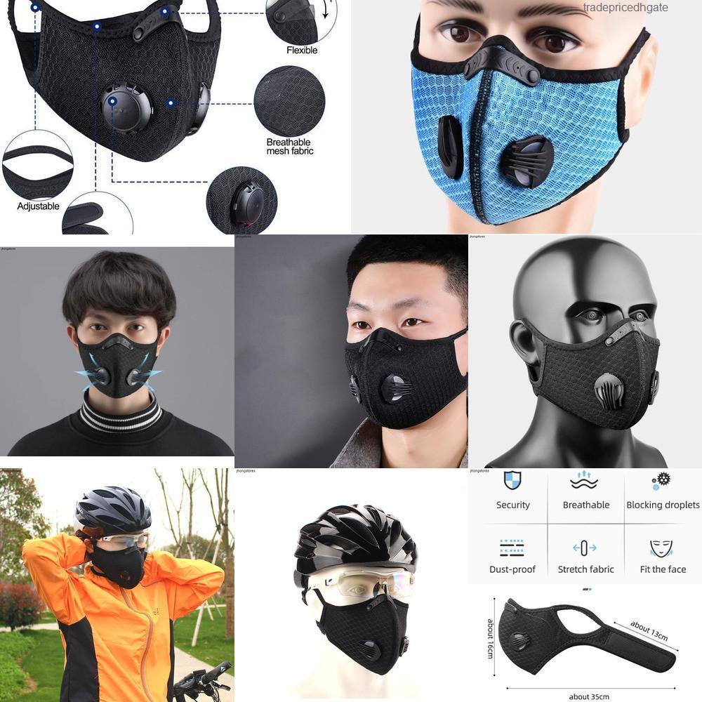 PM2.5 en la cara de la máscara de Ciclismo Deporte Anti-polvo anti-contaminación de carbón activado Filt Bcer M4vu