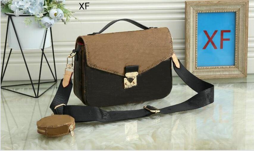 2020 bolsa de mensajero de las mujeres del estilo de la moda clásica de los bolsos de hombro del bolso de las mujeres bolsas Señora Totes bolsos de Speedy con el hombro oiu Strap28x6x25cm